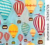 air balloon pattern | Shutterstock .eps vector #276341726