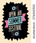 summer festival open air poster.... | Shutterstock .eps vector #276343502
