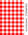 seamless red checkered fabric... | Shutterstock .eps vector #276366302
