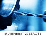 cnc turning  drilling and... | Shutterstock . vector #276371756