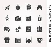 traveling and transport icon...