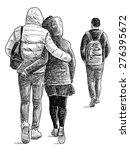 casual pedestrians | Shutterstock . vector #276395672