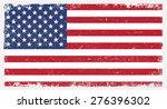 grunge usa flag.american flag... | Shutterstock .eps vector #276396302