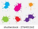 paint splat set.paint splashes... | Shutterstock .eps vector #276401162
