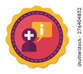 medical speech flat icon with... | Shutterstock .eps vector #276404852