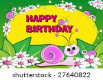 snail and flowers   birthday... | Shutterstock .eps vector #27640822