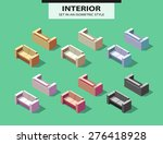 set of the isolated sofas with... | Shutterstock .eps vector #276418928