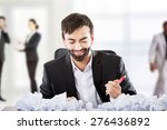 thoughtful businessman with... | Shutterstock . vector #276436892