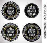 vector vintage insignias ....   Shutterstock .eps vector #276444842