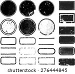 set of grunge rubber texture... | Shutterstock .eps vector #276444845