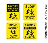 children playing traffic sign... | Shutterstock .eps vector #276447152