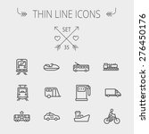 transportation thin line icon... | Shutterstock .eps vector #276450176
