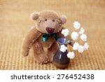 Handmade Teddy Bear With Flowers