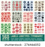 160 labels and logotypes design ... | Shutterstock .eps vector #276466052