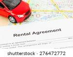 car rental agreement on map ... | Shutterstock . vector #276472772