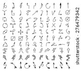 vector set of hand drawn arrows ... | Shutterstock .eps vector #276479342