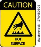 caution hot surface | Shutterstock .eps vector #276480806