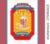 country fair vintage invitation ... | Shutterstock .eps vector #276482615