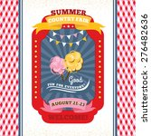 country fair vintage invitation ... | Shutterstock .eps vector #276482636