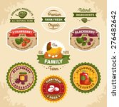 vintage farm labels vector... | Shutterstock .eps vector #276482642