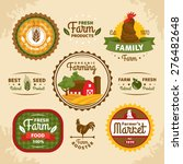 vintage farm labels vector... | Shutterstock .eps vector #276482648