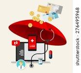 insurance health medical... | Shutterstock .eps vector #276495968