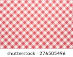 red and white tablecloth... | Shutterstock . vector #276505496
