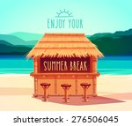 tiki bar. summer card   poster  ... | Shutterstock .eps vector #276506045