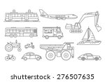 vector linear transport icons. | Shutterstock .eps vector #276507635