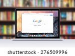 directly front view of apple 15 ... | Shutterstock . vector #276509996