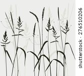 real grass silhouette  plant  ... | Shutterstock . vector #276510206