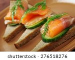 Sandwich With Smoked Salmon...