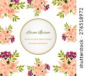 invitation card with floral... | Shutterstock .eps vector #276518972