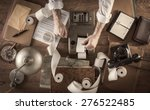 messy vintage accountant's... | Shutterstock . vector #276522485