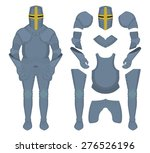 medieval knight armor parts....   Shutterstock .eps vector #276526196