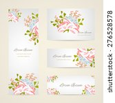 invitation card with floral... | Shutterstock .eps vector #276528578