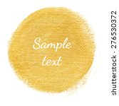 sparkling gold acrylic stain.... | Shutterstock .eps vector #276530372