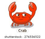 crab sea animal fish cartoon... | Shutterstock .eps vector #276536522