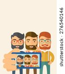 a three happy men taking a... | Shutterstock .eps vector #276540146