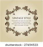 vintage style | Shutterstock .eps vector #27654523