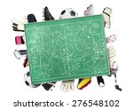 football board for tactics and... | Shutterstock . vector #276548102