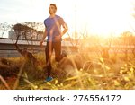 male athlete running in the... | Shutterstock . vector #276556172