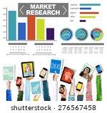 market research analysis bar... | Shutterstock . vector #276567458