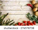 fresh organic vegetables. food... | Shutterstock . vector #276578738