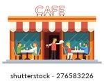 cafe building facade customer... | Shutterstock .eps vector #276583226