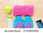 sport shoes and water with set ... | Shutterstock . vector #276585302