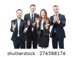 congratulations  group of happy ... | Shutterstock . vector #276588176