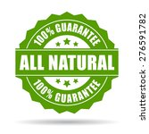 natural guarantee icon | Shutterstock .eps vector #276591782