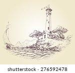 lighthouse vector drawing ... | Shutterstock .eps vector #276592478