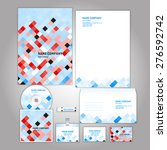 corporate identity template.... | Shutterstock .eps vector #276592742